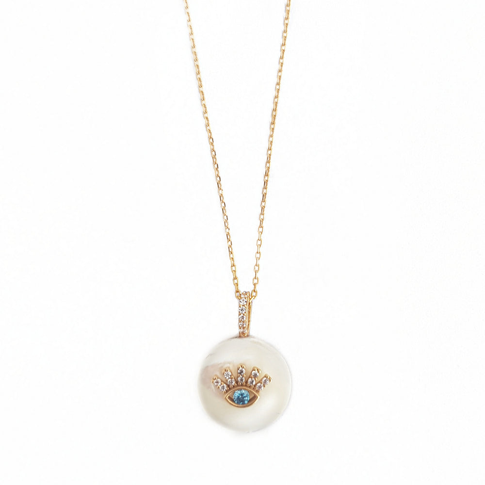 Natural Pearl Eye necklace
