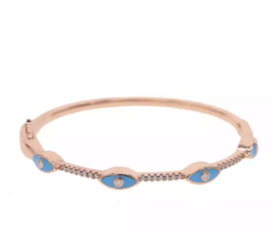 Enamel Blue Bangle
