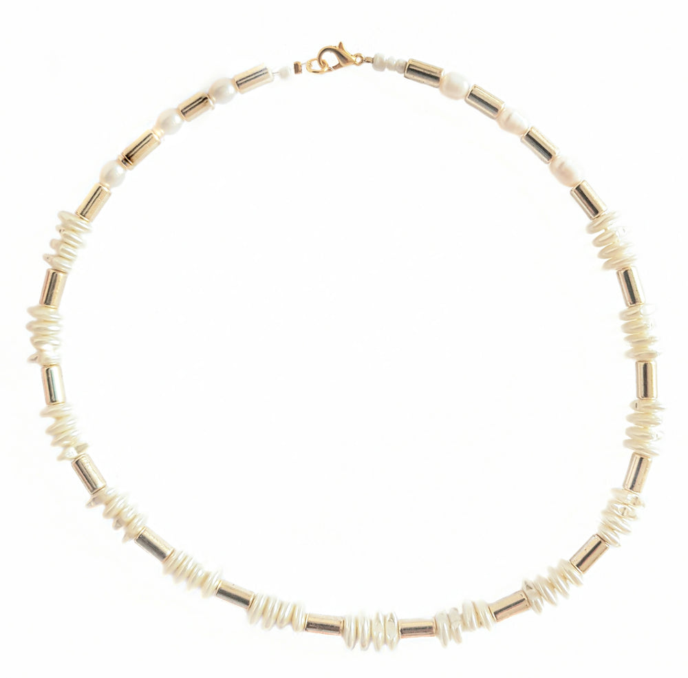 Gold&Pearl choker