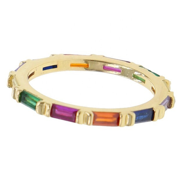 Bar rainbow ring