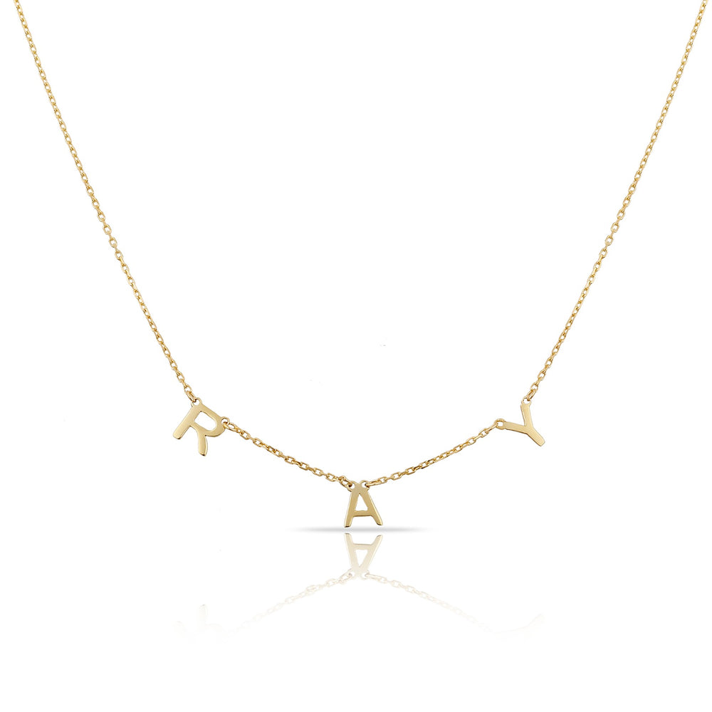 14K Letter Necklace (1-10 Letters)