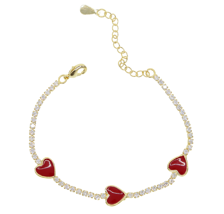 RED LOVE enamel bracelet