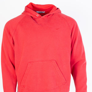Vintage Nike Spellout Hooded Sweatshirt - Red - American Madness