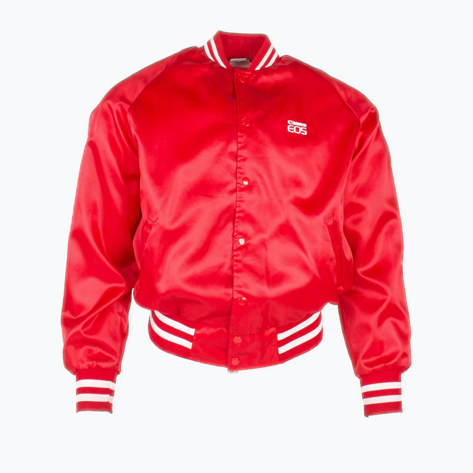 Vintage 'Canon' Satin Baseball Jacket - Red - American Madness