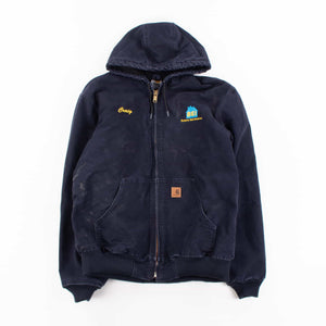 Vintage Carhartt Active Hooded Jacket - Navy