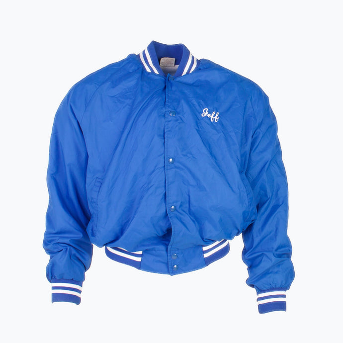 Vintage 'Jeff' Baseball Track Jacket - Blue - American Madness