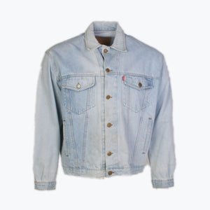 Vintage Levi's Trucker Jacket - Light Wash - American Madness