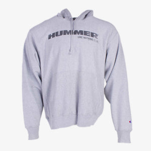 Vintage Champion 'Hummer' Hooded Sweatshirt - Grey - American Madness