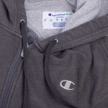 Vintage Champion Zipped Hooded Sweatshirt - Grey - American Madness