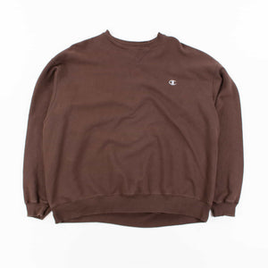 Vintage Champion Logo Sweatshirt - Brown
