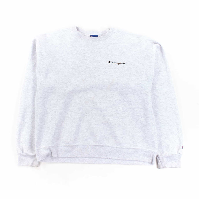 Vintage Champion Logo Sweatshirt - Grey