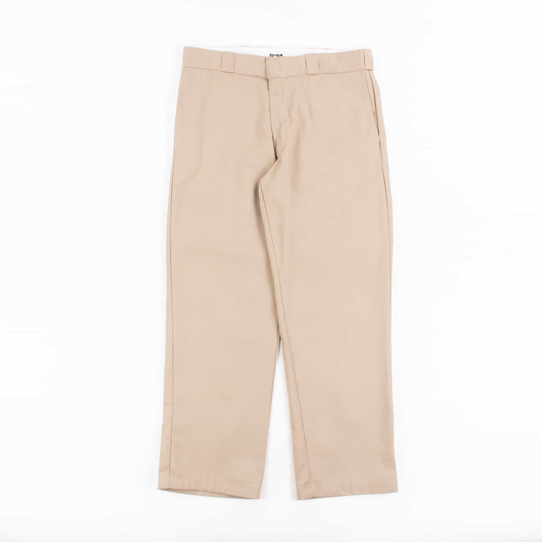 Vintage Dickies Original 874 Work Trousers Khaki