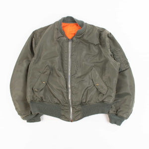 Vintage 1970's US Army MA-1 Bomber Jacket - Green