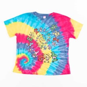 Vintage 1995 'Grateful Dead Dancing Bear ' Tie-Dye T-Shirt