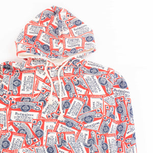 Vintage 90's 'Budweiser Promotional' All Over Print Hoodie