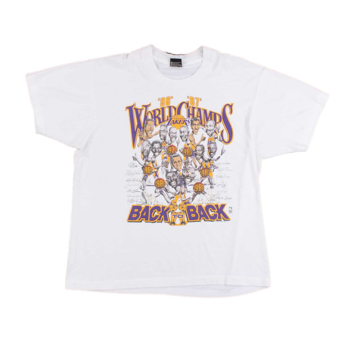Vintage Screen Stars 'Lakers 87-88 Back To Back Championship' NBA T-Shirt