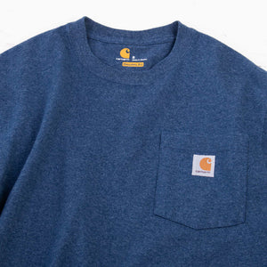 Vintage Carhartt Pocket T-Shirt - Blue - American Madness