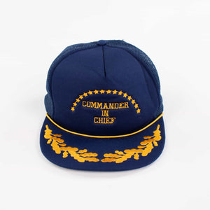 Vintage 'Commander in Chief' 90's Trucker Cap - American Madness