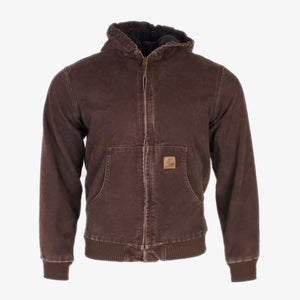 Vintage Carhartt Active Hooded Jacket - Brown - American Madness