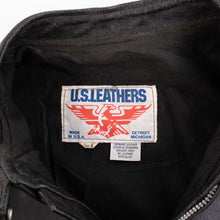 Vintage 'U.S Leathers' Leather Biker Jacket