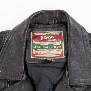 Vintage 'Akaso' German Leather Biker Jacket
