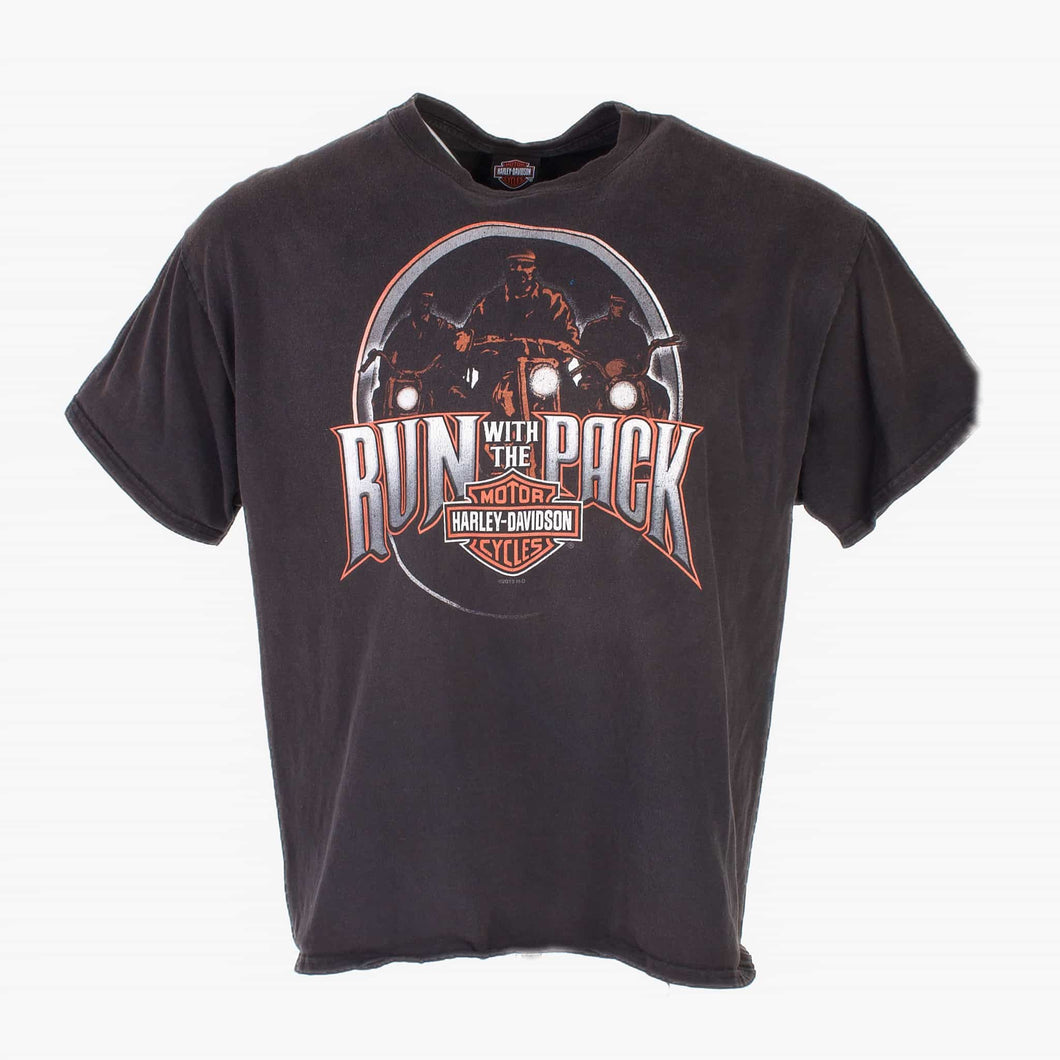 Vintage Harley Davidson Run With The Pack T-Shirt - Black - American Madness