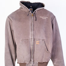Vintage Carhartt Active Hooded Jacket - Washed Brown - American Madness