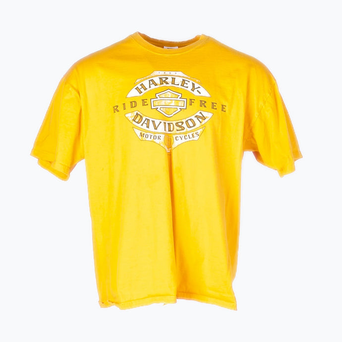 Vintage Harley Davidson 'Peoria' T-Shirt - Yellow - American Madness