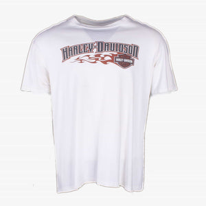 Vintage Harley Davidson 'Lancaster' T-Shirt - White - American Madness