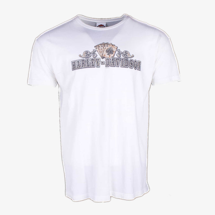 Vintage Harley Davidson 'Aces' T-Shirt - White - American Madness