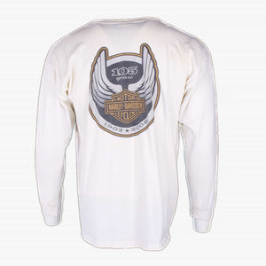 Vintage Harley Davidson Long Sleeve T-Shirt - Off-White - American Madness