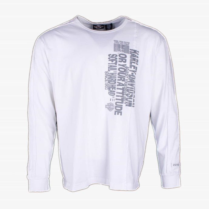 Vintage Harley Davidson Long Sleeve T-Shirt - White - American Madness
