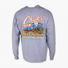 Vintage Harley Davidson 'Chicks' Long Sleeve T-Shirt' - Grey - American Madness
