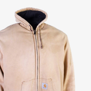 Vintage Carhartt Hooded Active Jacket - Sandstone - American Madness