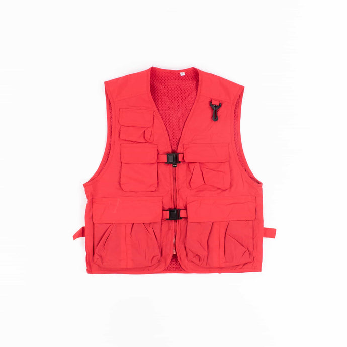 Vintage Tactical Fishing Vest - Red