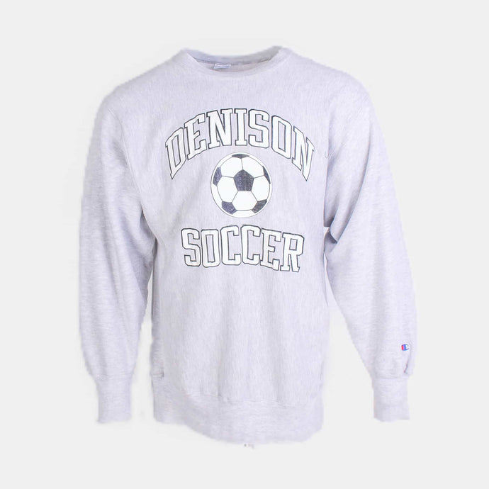 Vintage 'Denison Soccer' Reverse Weave Sweatshirt - American Madness