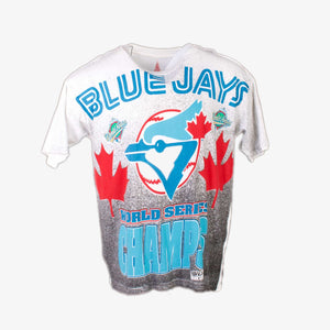 Vintage 1992 Toronto 'Blue Jays' MLB Baseball All Over Print T-Shirt - American Madness