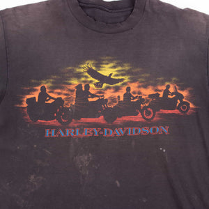 Vintage 80's Harley Davidson 'Harvs' T-Shirt - American Madness