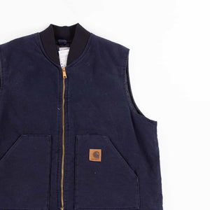 Vintage Carhartt Insulated Vest - Navy