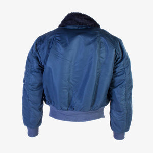 Vintage Alpha Industries CWU MA-2 Sherpa Collar Bomber Jacket - Blue