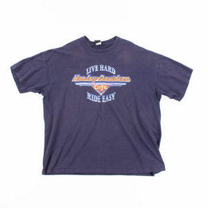 Vintage 90's Harley Davidson 'Live Hard, Ride Easy' T-Shirt - American Madness