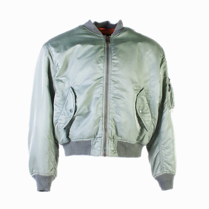 Vintage Power Industries MA-1 Bomber Jacket - Light Green