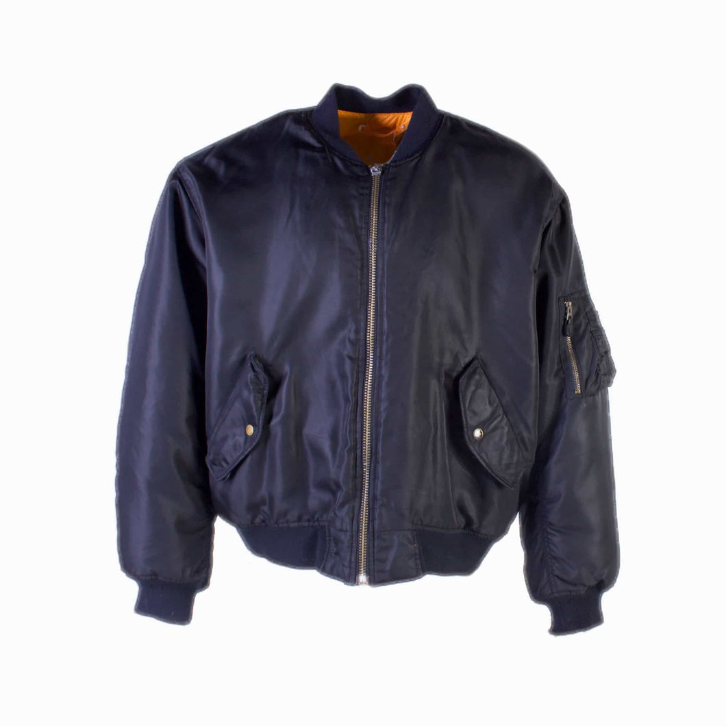 Vintage MA-1 Bomber Jacket - Black - American Madness