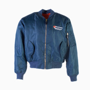 Vintage 'Timbertown' MA-1 Bomber Jacket- Blue