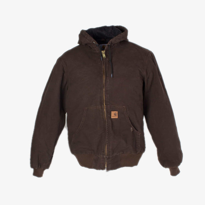 Vintage Carhartt Active Hooded Jacket - Brown