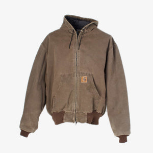 Vintage Carhartt Active Hooded Jacket - Washed Brown
