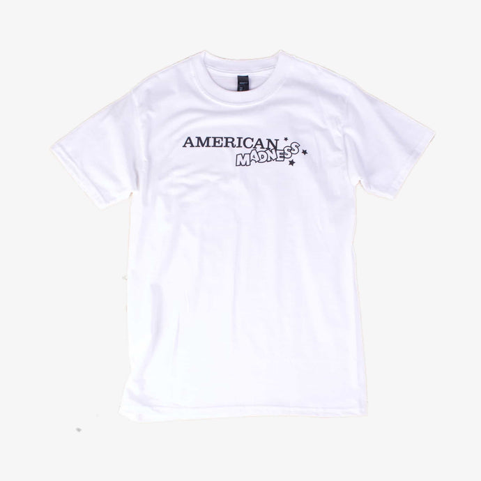 American Madness 80's Logo Tee - Monochrome - American Madness
