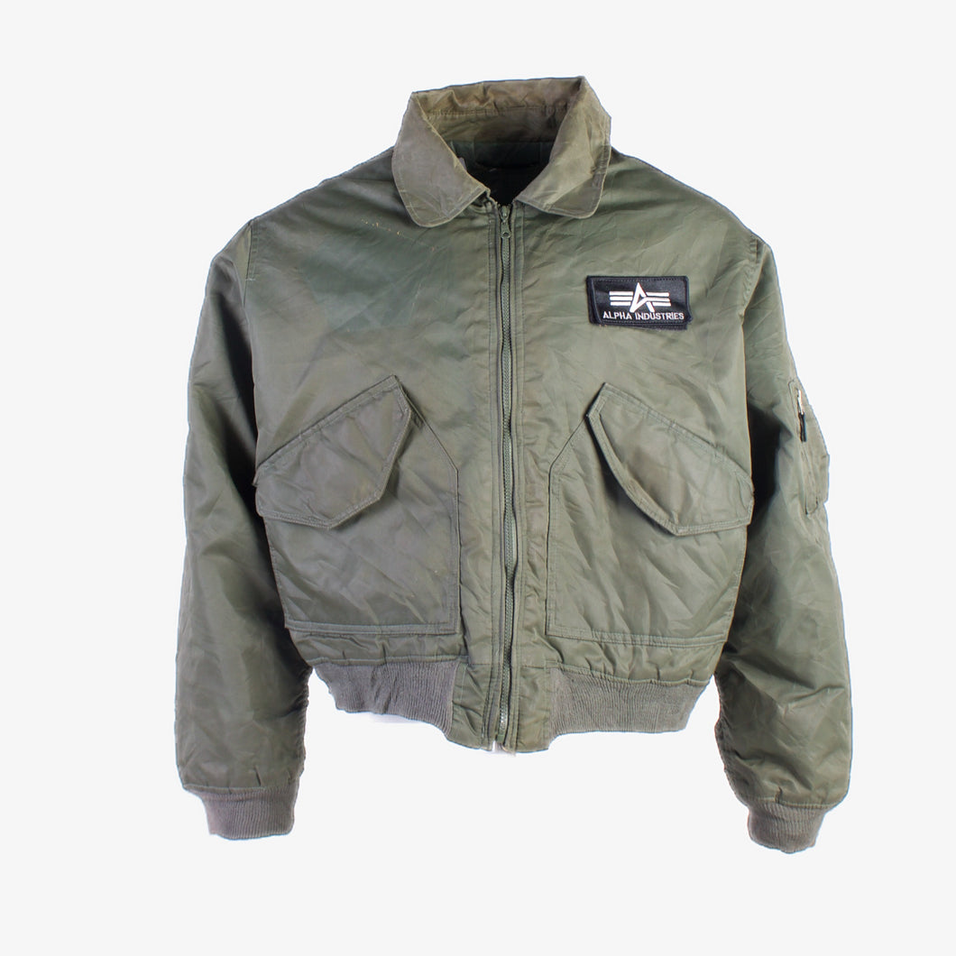 Vintage Alpha Industries Bomber Jacket- Green - American Madness