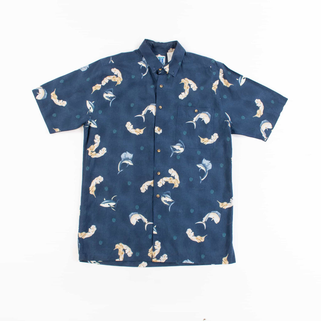 Vintage 'Hook and Tackle' Hawaiian Shirt - American Madness