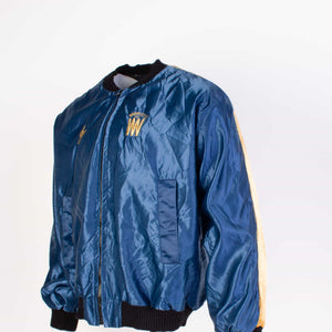 Vintage Satin Baseball Jacket - Navy - American Madness